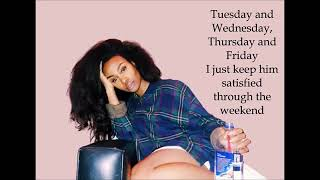sza the weekend with lyrics