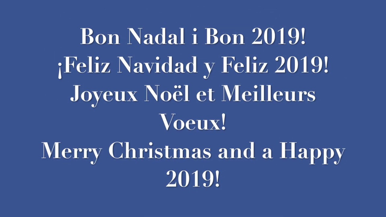 Feliz Navidad Joyeux Noel 2019.Bon Nadal Feliz Navidad Joyeux Noel Merry Christmas 2019