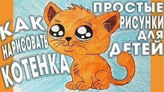 Как нарисовать котенка, поэтапно, карандашом.