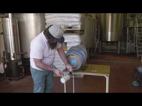 How To Properly Tap A 9 GALLON CASK Of BEER