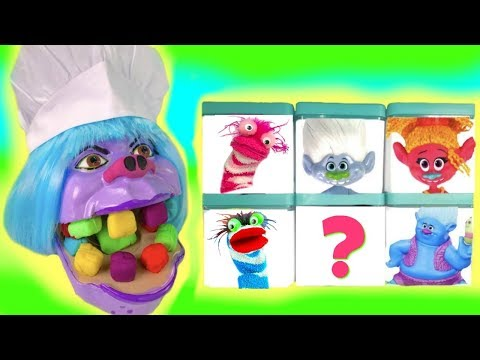 Thumbnail: Trolls Movie Chef Get Colorful Play Doh Teeth Surprise Blind Boxes Fizzy Toy Show