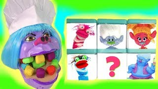 Trolls Movie Chef Get Colorful Play Doh Dentist Teeth Surprise Blind Boxes Fizzy Toy Show