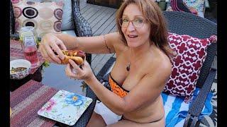 Bikini MILF Mom - 4th of July - Hot Dog