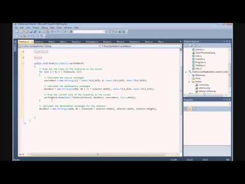 How To Build A Pacman Game In XNA - 16. MapBuilder - TileStrip Class