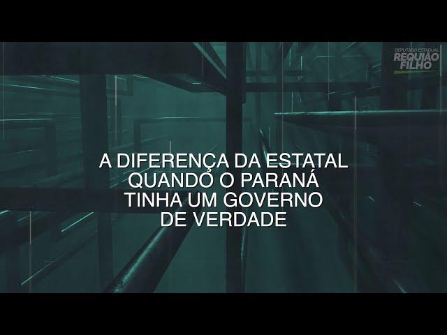 A diferença da Sanepar quando o Paraná tinha um governo de verdade