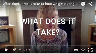 What does it really take to lose weight during perimenopause/menopause