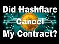 Hashflare Cancelled My Mining Contract?
