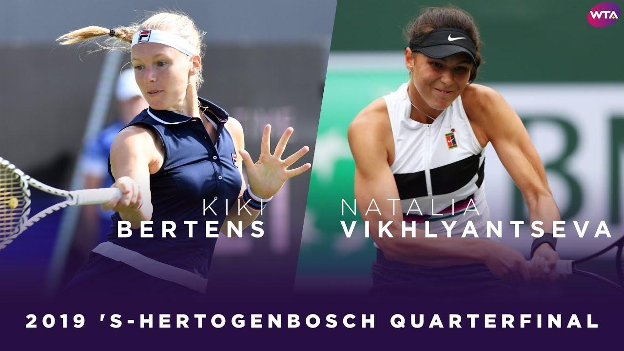 Kiki Bertens vs. Natalia Vikhlyantseva | 2019 Libema Open Quarterfinal | WTA Highlights