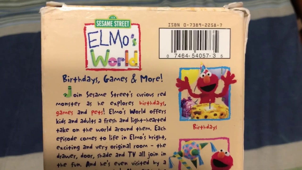 Download My Elmo's World Birthdays Games And More VHS