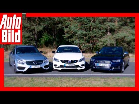 Fahrbericht:  V60 vs C43 vs S4 / Kampf der Renn-Kombis / 2016 / Testfahrt / Probefahrt / Review
