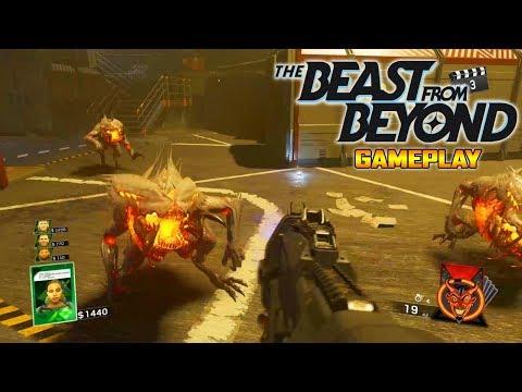 """THE BEAST FROM BEYOND"" DLC 4 GAMEPLAY!!! - INFINITE WARFARE ZOMBIES GAMEPLAY"