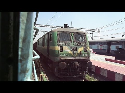 CLW made WAG-9H Skipping with 58 BOXN Rakes Long Freight Train From Itwari Jn : Indian Railways