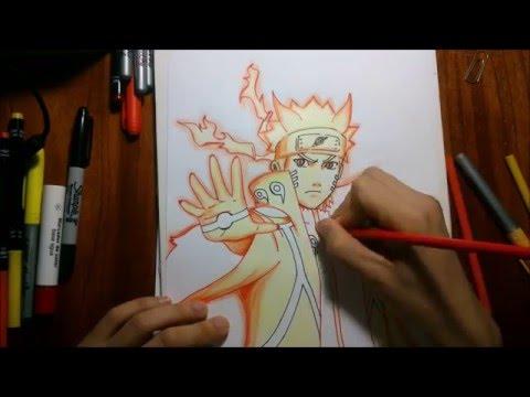 Dibujando A Naruto Modo Sabio De Los 6 Caminos Drawing Naruto Sage Of The Six