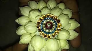 making of bridal Jasmine Jada billa |  Jasmine poola Jada billa mallepoola Jada billa