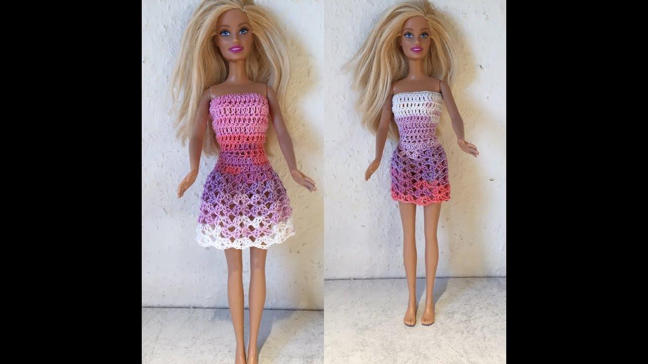 closer at discount shop size 7 Tuto robe poupée au crochet spécial gaucher