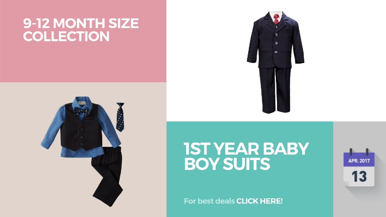 1st year baby boy suits 912 month size collection