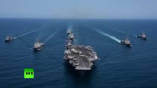 Demonstration of power  US, South Korean ships sailing in formation in western Pacific