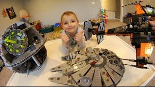 FATHER SON ULTIMATE LEGO BATTLE! / Death Star Attack!