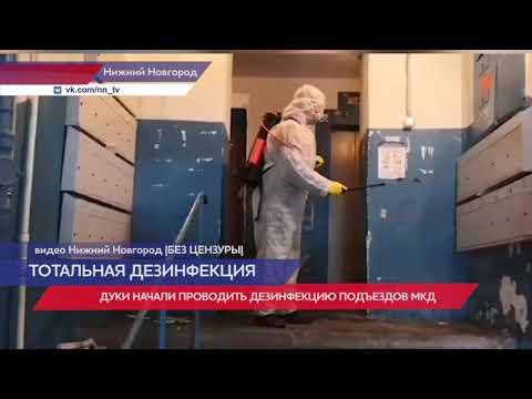 Домоуправляющие компании Нижнего Новгорода начали дезинфекцию подъездов многоквартирных домов