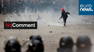 Clashes in Beirut ahead of government confidence vote