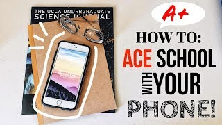 Work Hard Anywhere: Get STRAIGHT A's Using Your PHONE! | Lauren Dinh