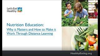 K12 Online Teaching Webinars: Nutrition Education