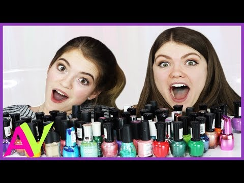 Mixing All My Nail Polish Together Experiment / Aud Vlogs