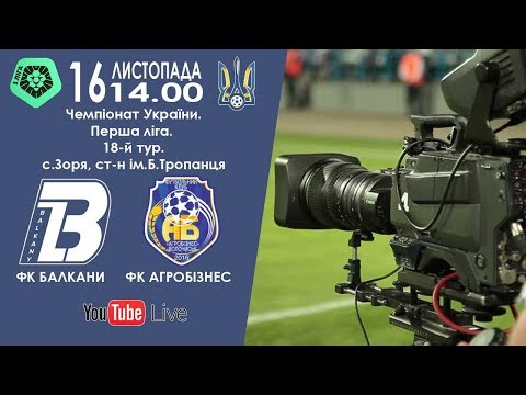 Николай Алексеев: ФК «Балкани» (Зоря) – ФК «Агробізнес» (Волочиськ). LIVE. (16.11.2019)