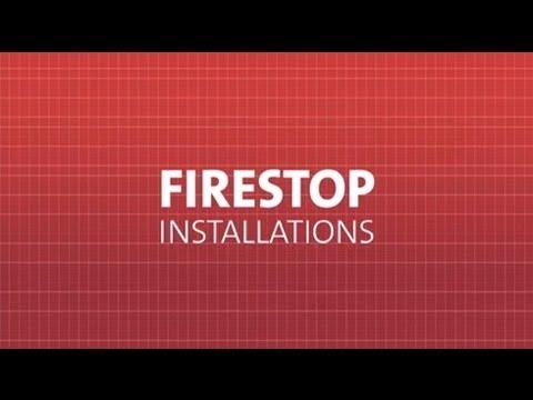 IFC UL Demonstration of Proper vs Improper Firestopping
