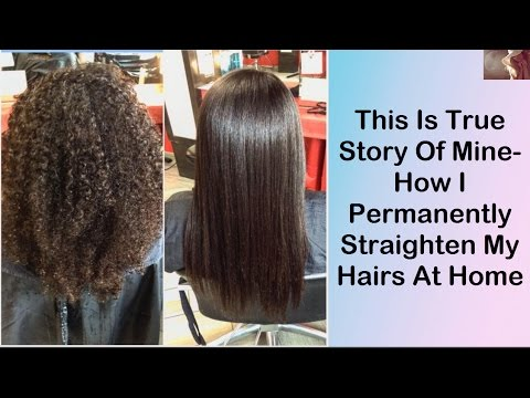 How I Permanently Straighten My Hairs At Home Perfect Straight Remes