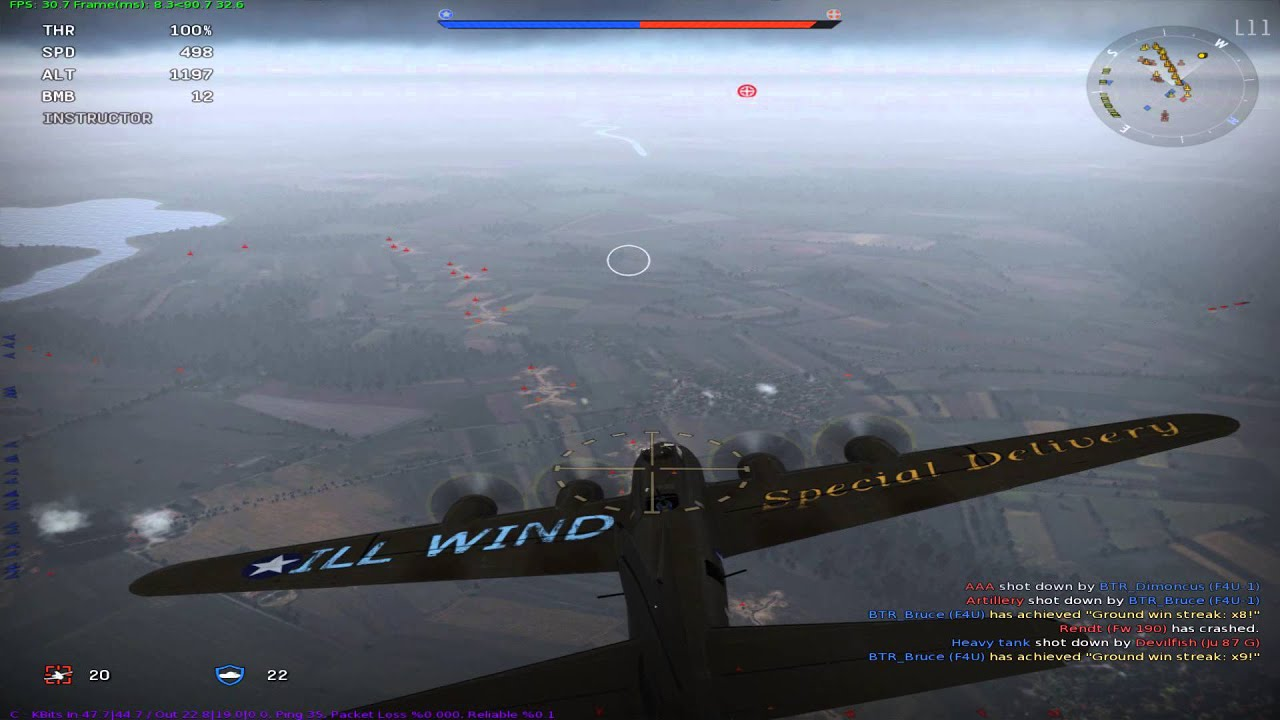 War thunder B17 Flying Fortress gameplay - YouTube