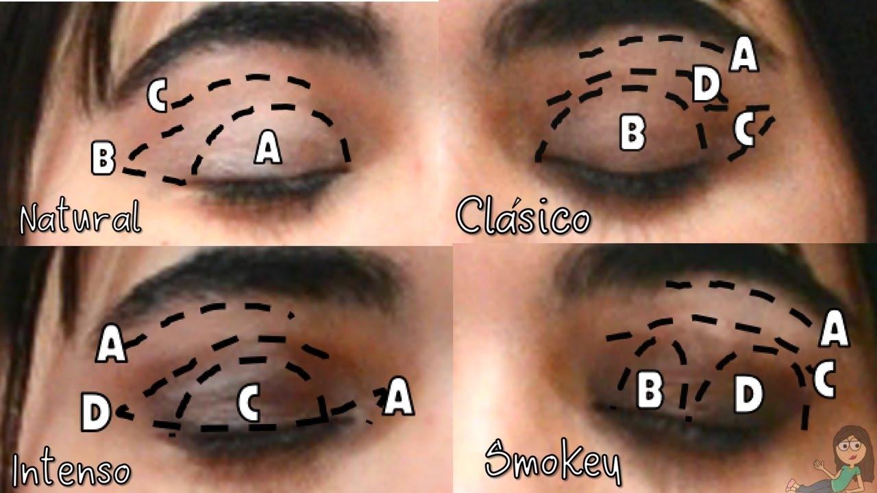 Como aplicar sombra de ojos paso a paso para principiantes - Ojos ahumados para principiantes ...