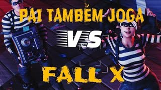 PAI TAMBÉM JOGA VS FALL X// JOGADAS FORTNITE SEASON 5