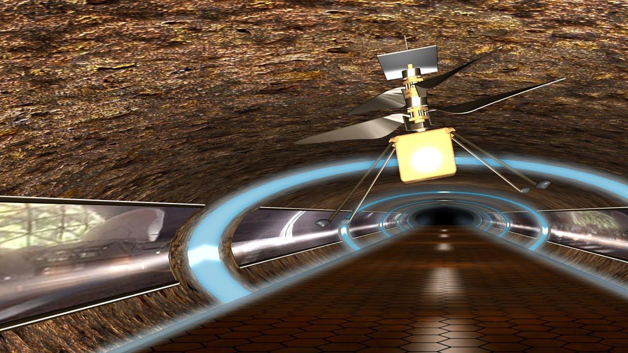 Ingenuity descubre un túnel subterráneo en Marte / animación