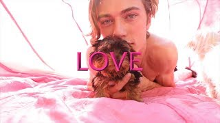 Lucky Blue Smith and PUPPIES! #LOVEVALENTINES