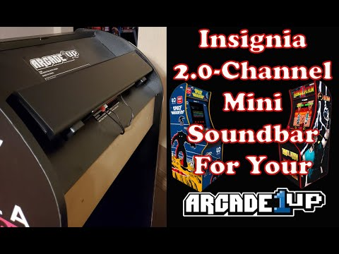 Insignia Mini 2.0 Channel Soundbar for your Arcade1up from MadDadsGaming