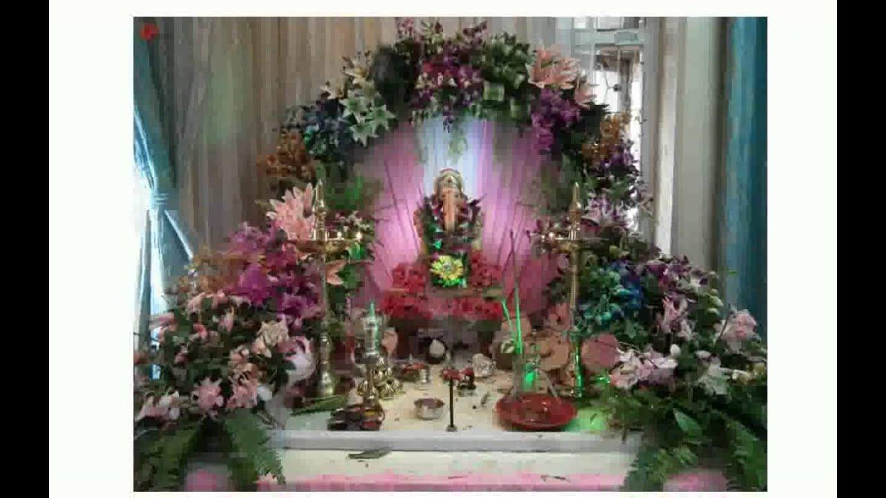House Decoration With Flowers - biorada - YouTube