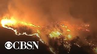 Deadly wildfires ravaging California fueled by rapid winds