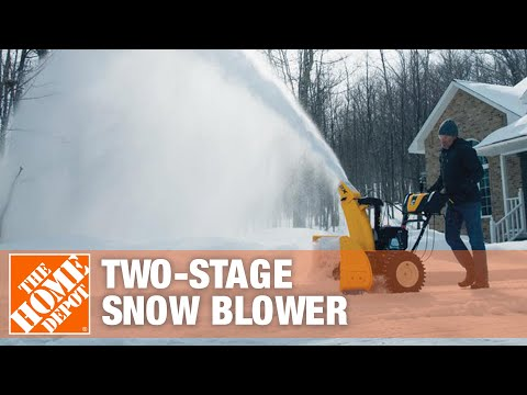How To Choose and Maintain a Two-Stage Snow Blower - The Home Depot