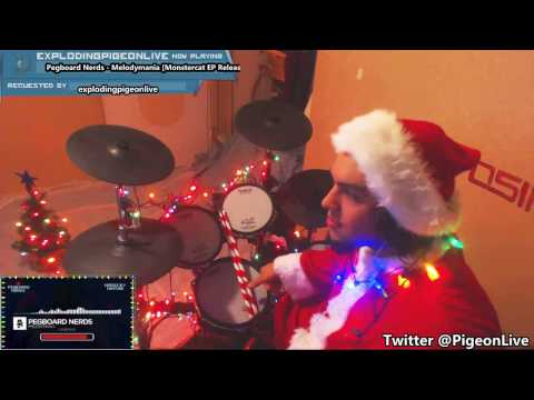 Pegboard Nerds - Melodymania (NEW 2016) | BLIND Drum Cover Live on Twitch