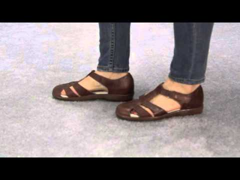 454446ec4 Propét W0310 Heather Leather Closed Toe Closed Heel Sandal - YouTube