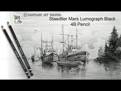 Drawing Sailboats with Basic pencil Sketching and Shading Step by Step   Easy Pencil Art