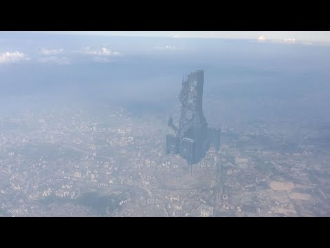 Amazing UFO Mothership filmed from Airplane over CHINA !!! Sept 2018