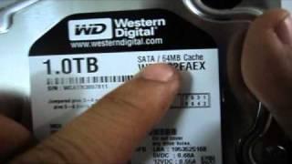 Western Digital Black 1TB SATA3 6Gb/s(WD1002FAEX) Hard Drive Unboxing