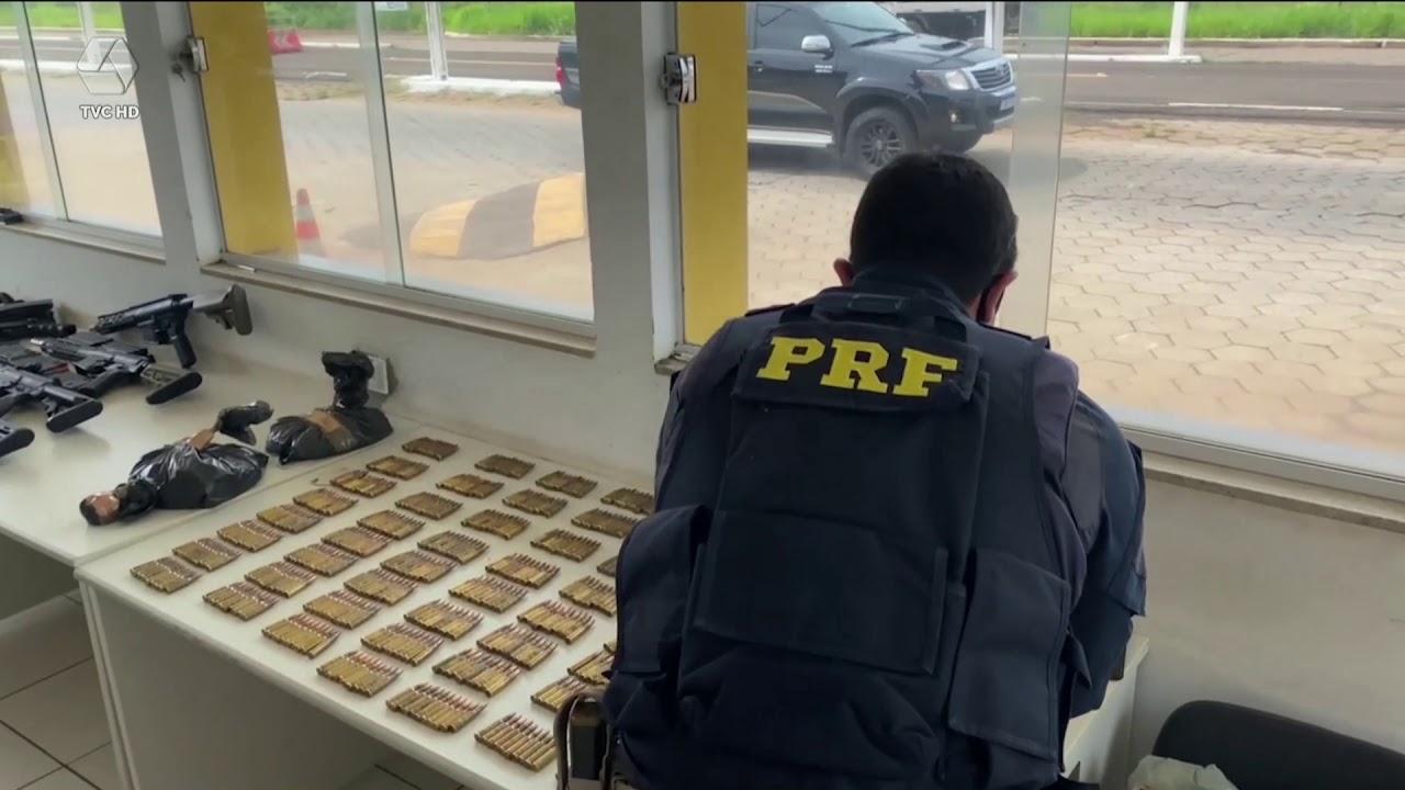 PRF apreende armamento pesado em Bataguassu