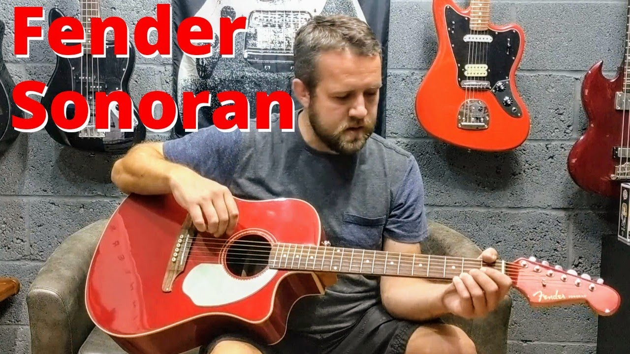 fender sonoran sce electro acoustic guitar review demo youtube. Black Bedroom Furniture Sets. Home Design Ideas