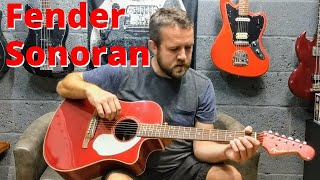 Fender Sonoran SCE Electro Acoustic Guitar | Review Demo