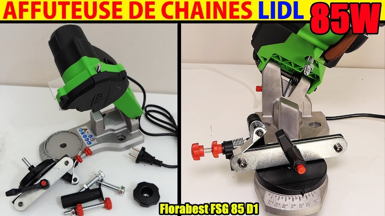 affuteuse de chaine lidl tronconneuse florabest fsg 85w chain sharpener cleaner. Black Bedroom Furniture Sets. Home Design Ideas