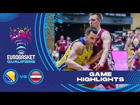 Bosnia and Herzegovina - Latvia | Highlights - FIBA EuroBasket 2022 Qualifiers