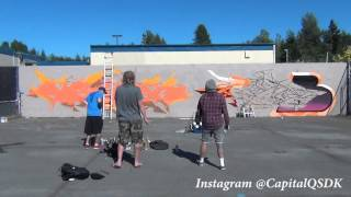 Graffiti Time lapse 10 Hours in the hot sun